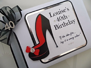 Black & Red Shoe- Personalised Guest Book